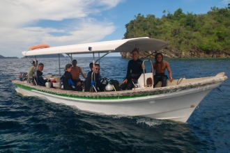 Misool Eco Resort Dive Boat.