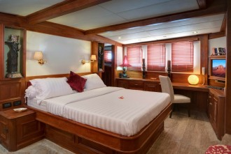 Superb luxury cabins.