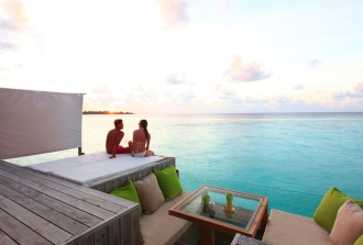 Laamu Water Villa deck.