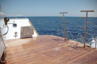 Large dive platform.