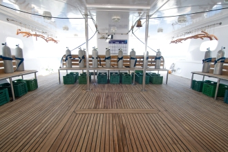 Spacious Dive Deck.
