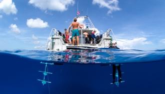 Dive Boat platform.