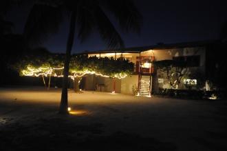 Lodge at night.
