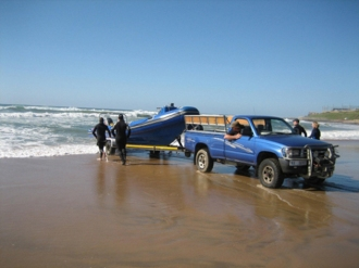 Launching the Dive RIB.