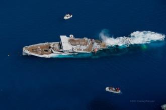 US Kittiwake Sinking
