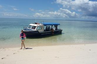 Nunukan Island Resort Dive Boat.