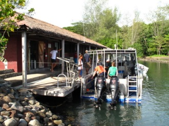 Dive Boat and Dive Center.