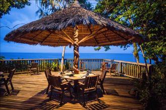 Dine overlooking the stunning surroundings.