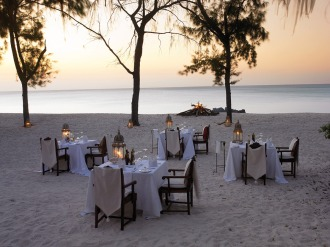Vamizi Lodge Beach Dining.
