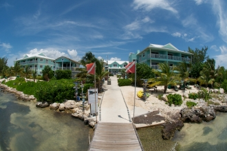 View from the dive jetty toward Compass Point.