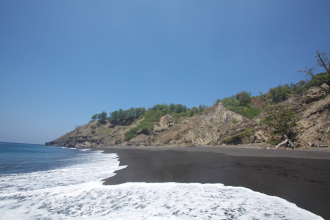 Black Sand Beach Barren Island
