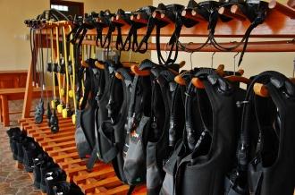 Dive Center Rental Equipment.
