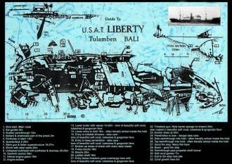 US Liberty Wreck Map.