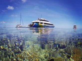 Explore the Great Barrier Reef Dive Boat.