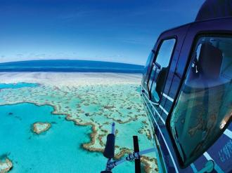 Helicopter over Heart Reef.
