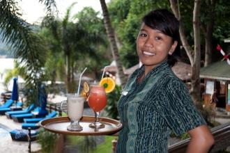 Poolside Bar Service.