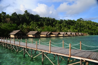 Over water bungalows.