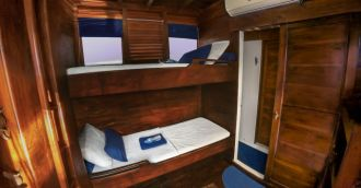 Double Bed and Single Bunk Bed Cabin