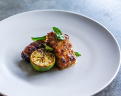 Charcoal Grilled Black Cod with Sambal & Kaffir Lime