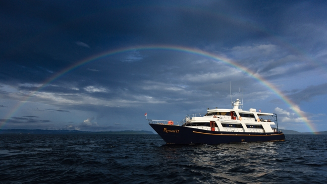 Mermaid II vessel rainbow